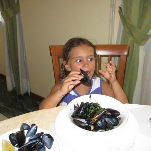 Tasting mussels