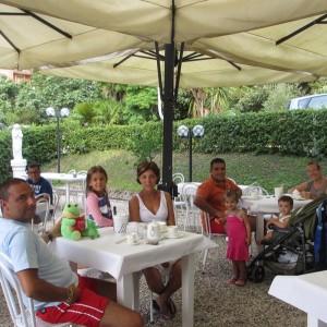 Families in the garden